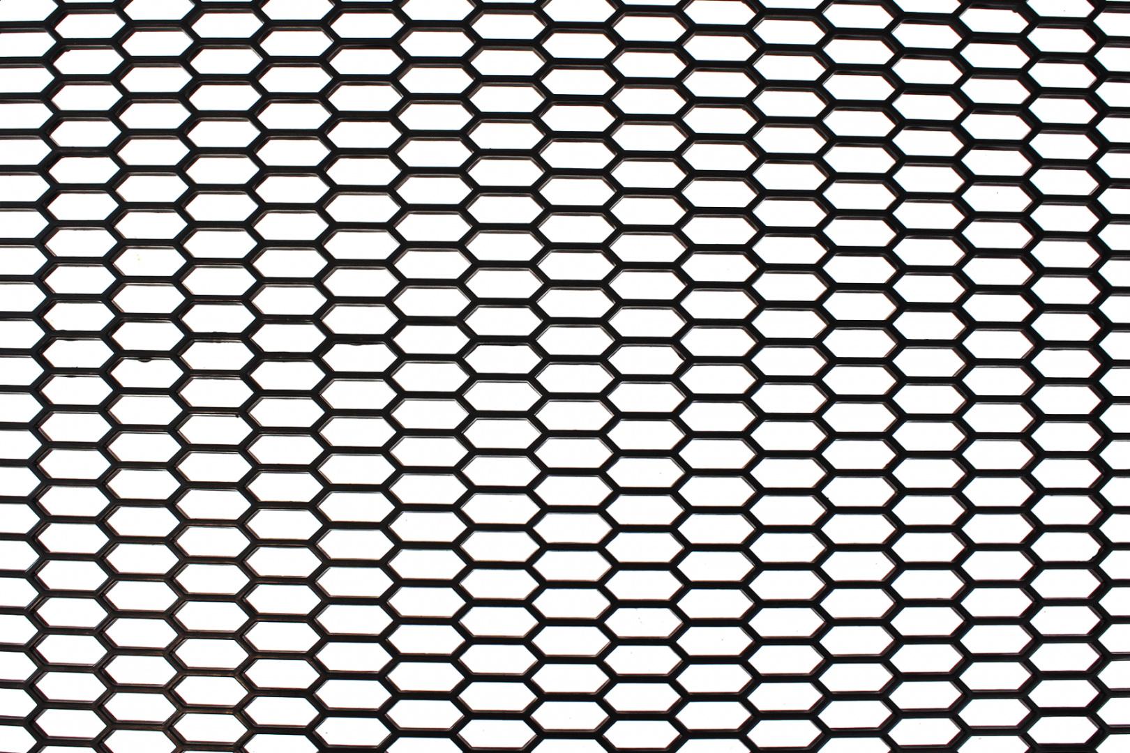 SIATKA PU HONEY COMB BLACK 120 * 40cm - GRUBYGARAGE - Sklep Tuningowy